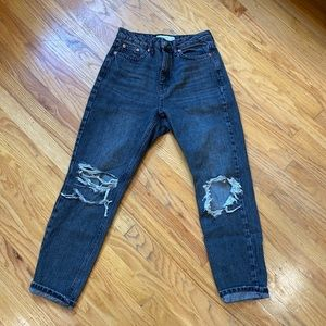 Topshop grey mom jeans